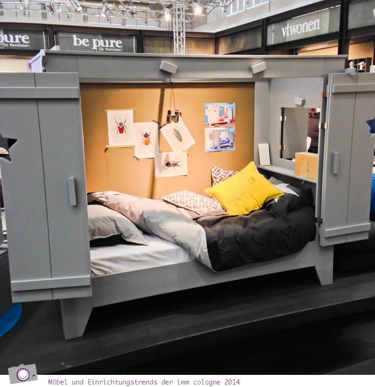 Möbel- und Einrichtungstrends von der imm cologne 2014: Das Bett im Schrank