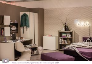 Möbel- und Einrichtungstrends von der imm cologne 2014: Jugendzimmer in Pastell Farben