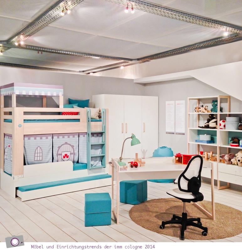 Möbel- und Einrichtungstrends von der imm cologne 2014: Kinderzimmer in Pastell Farben