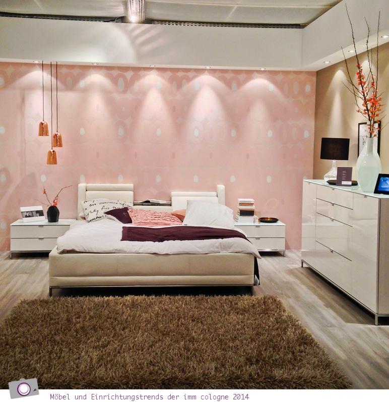 Möbel- und Einrichtungstrends von der imm cologne 2014: Schlafzimmer in Pastell Farben