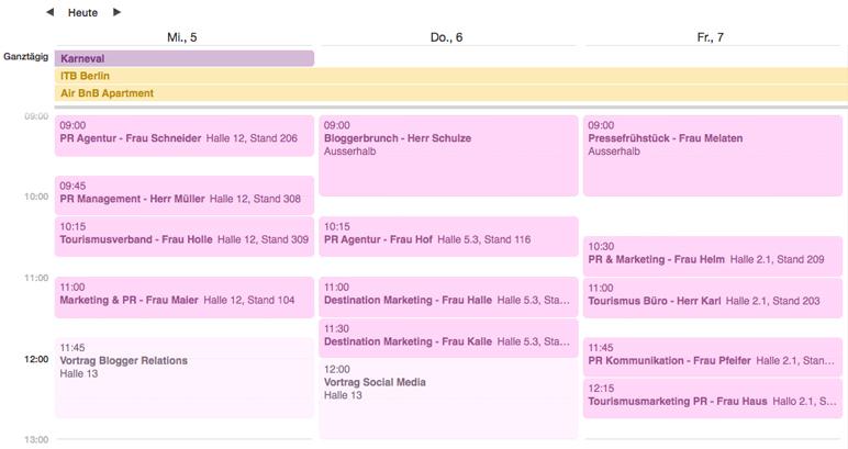 Reisemesse ITB: Wie plane ich als Reiseblogger Termine ein?