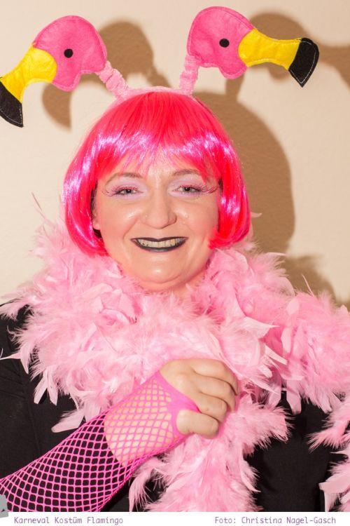 Meine Kostümidee für Karneval: rosa Flamingo