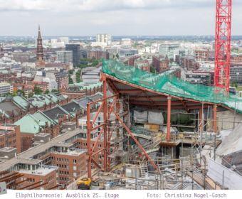 Elbphilharmonie Baustellenführung: Ausblick auf Hamburg aus der Luxuswohnung im 25. Stock