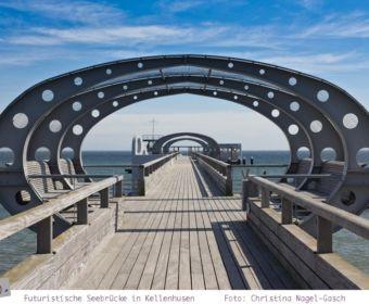 Die futuristische Seebrücke in Kellenhusen
