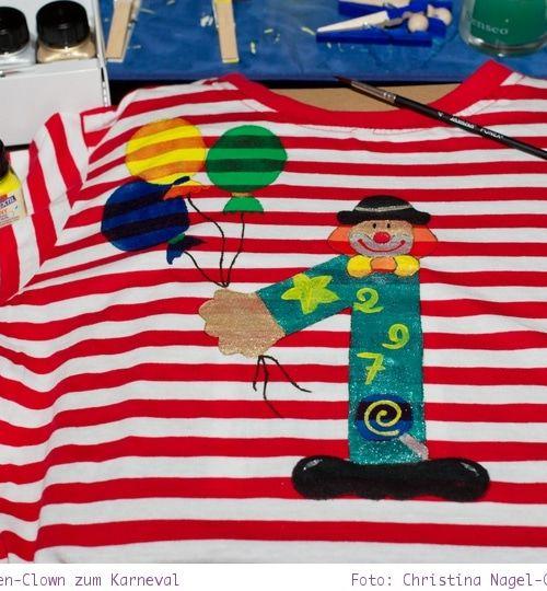 Zahlen Clown: Karnevalskostüm für Kinder und Erwachsene – Last Minute