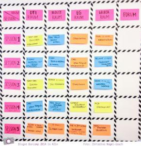 Blogst Barcamp 2014 in Köln - der Stundenplan
