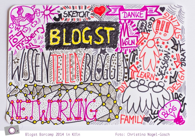 Blogst Barcamp 2014 in Köln - in Sketchnotes