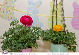 DIY: Basteln mit Konservendosen - Upcycling zum Blumentopf - Ranunkel Frühlings Blumen