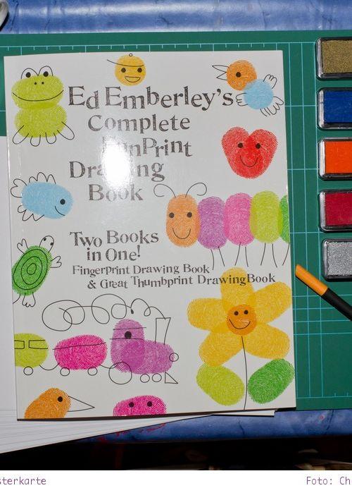 Osterkarten basteln – mit Fingerprints nach Ed Emberley