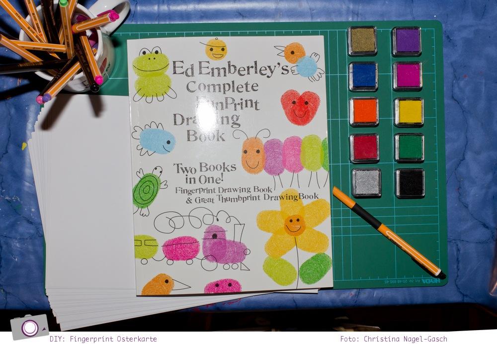 osterkarten basteln mit fingerprints nach ed emberley. Black Bedroom Furniture Sets. Home Design Ideas