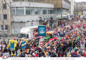 Karneval - der Rosenmontagszug in Köln 2014