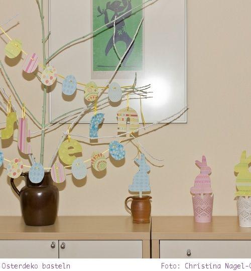 DIY: Osterdeko basteln – Osteranhänger und Eiergirlande