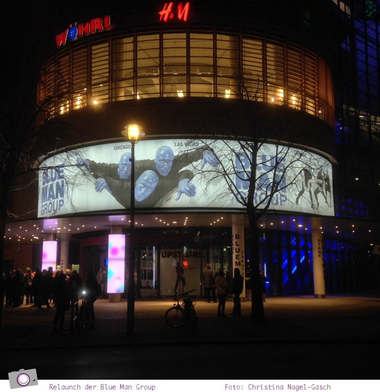 Relaunch der Blue Man Group in Berlin