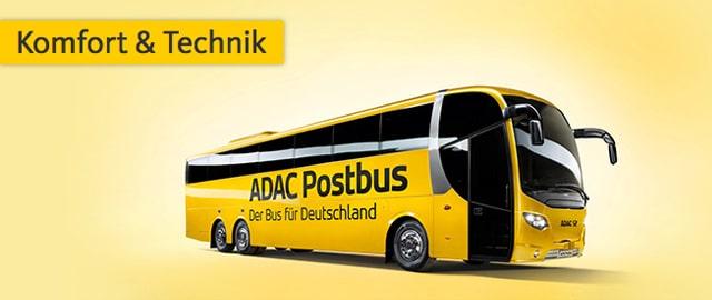 ADAC Postbus - Komfort und Technik im Fernbus