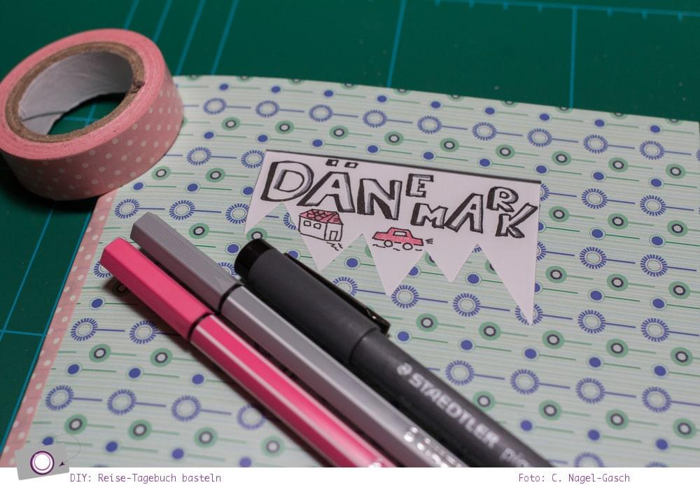 DIY: Reise-Tagebuch / Notizbuch selbst gebastelt