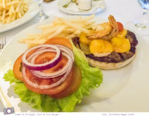 Essen in Portugal: Surf & Turf Burger