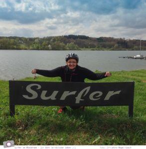 Surfer am Wiesensee: Ich dann vielleicht im nächsten Leben ;-)