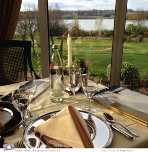 Lindner Hotel & Sporting Club am Wiesensee: Abendessen mit Ausblick