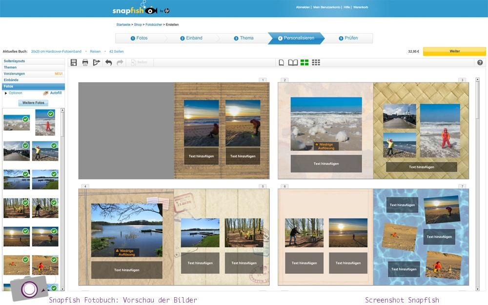 Snapfish Fotobuch Bestellprozess