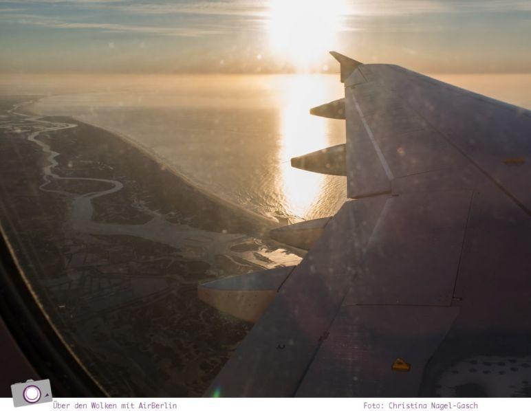 Über den Wolken: mit Air Berlin von Düsseldorf nach Faro (Portugal)