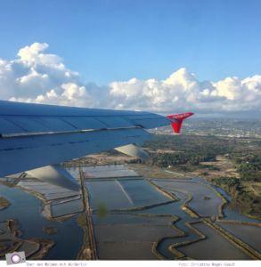 Über den Wolken: mit Air Berlin von Faro (Portugal) nach Düsseldorf