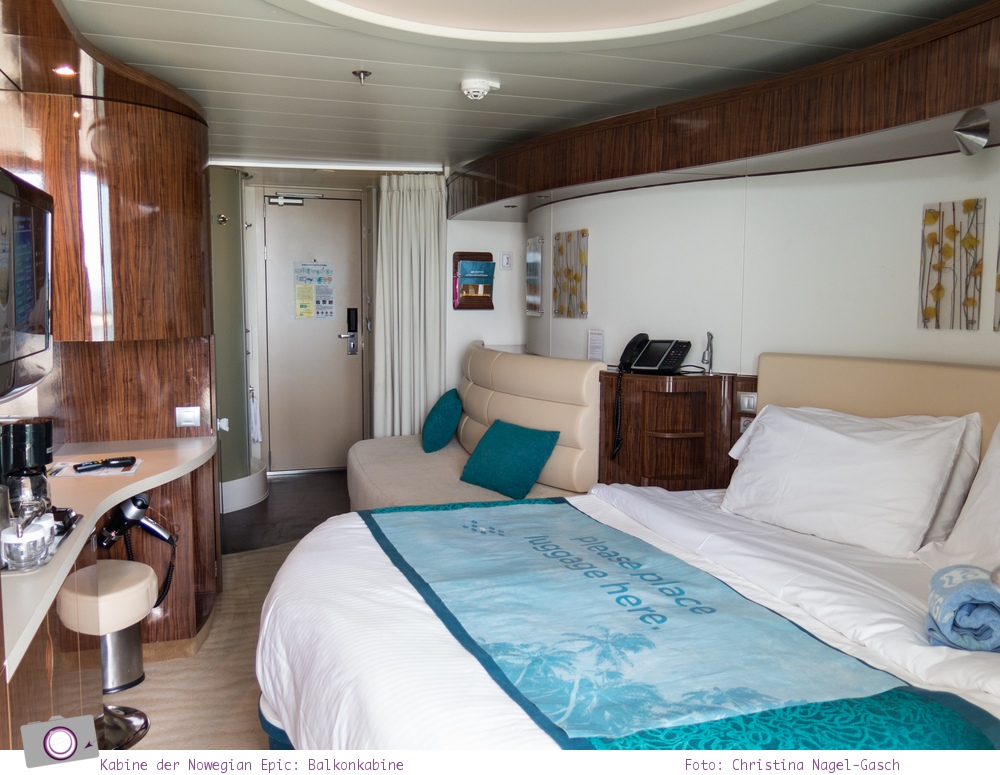 Mittelmeer Kreuzfahrt mit der Norwegian Epic - Balkonkabine