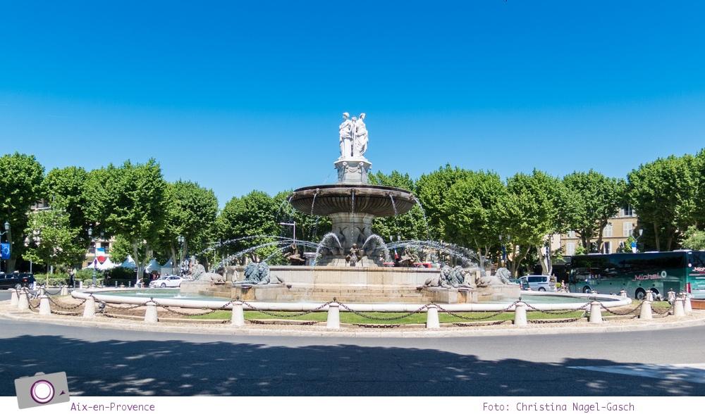 Norwegian Epic: Landgang in Aix-en-Provence - La Rotonde: Der bekannteste Brunnen in Aix