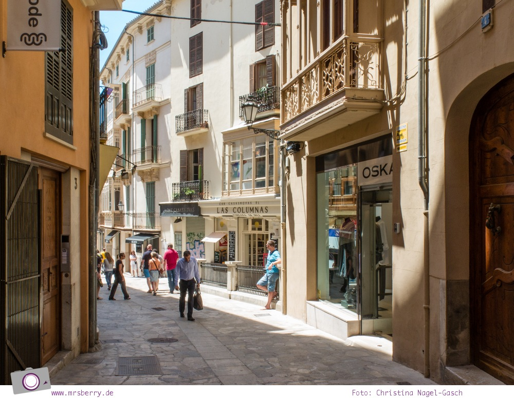 Norwegian Epic - Landgang in Palma de Mallorca: Shopping Straße