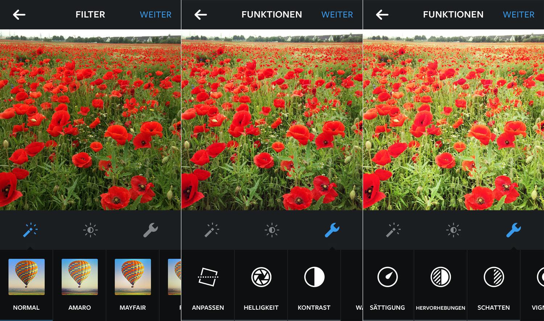 Die besten Foto Apps: Instagram mit Bildbearbeitungsfunktionen