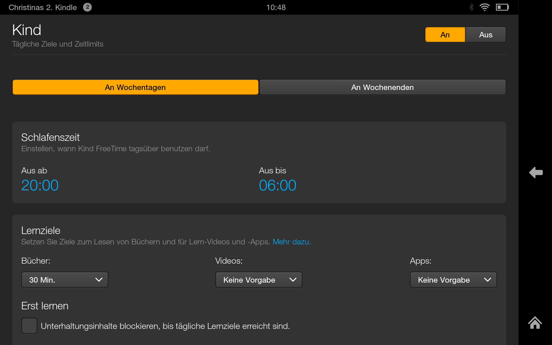 Kindle mit FreeTime Funktion