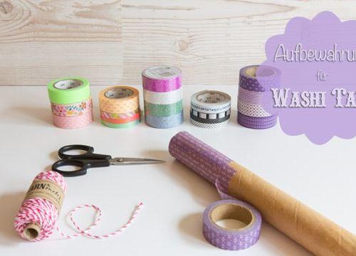 DIY: Aufbewahrung für Washi Tape / Masking Tape basteln