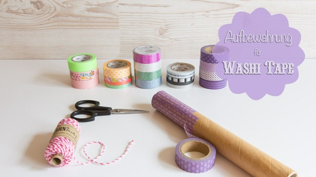 diy aufbewahrung f r washi tape masking tape basteln. Black Bedroom Furniture Sets. Home Design Ideas