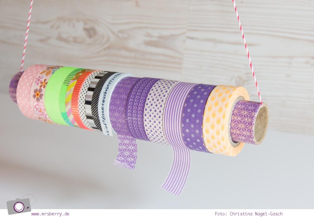 diy aufbewahrung f r washi tape masking tape basteln. Black Bedroom Furniture Sets. Home Design Ideas