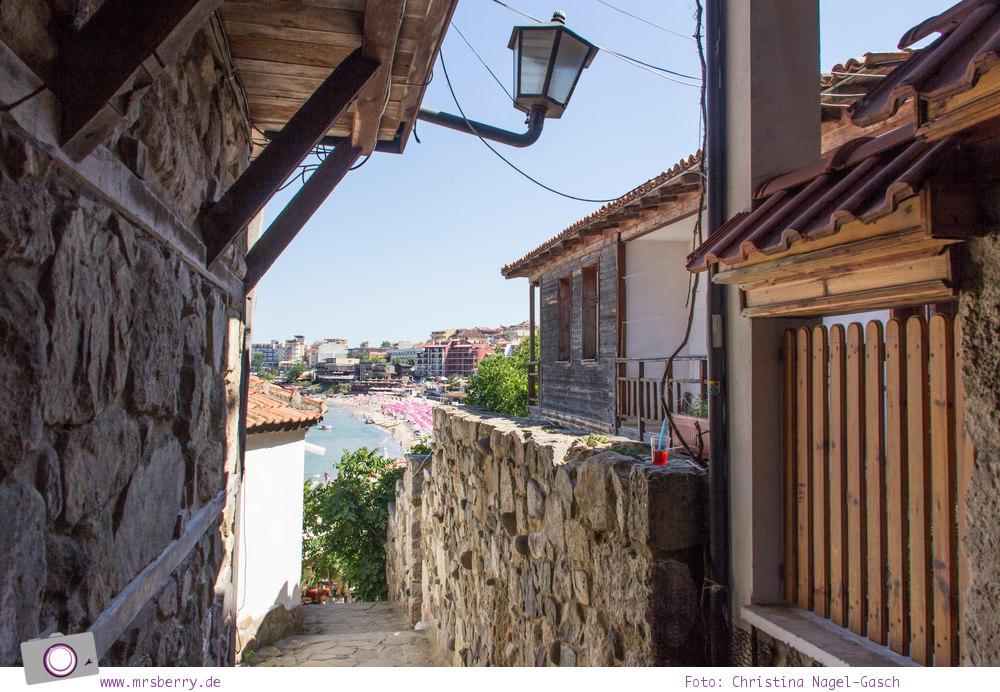 Schwarzmeerküste in Bulgarien - herrliche Aussicht von Sozopol auf ...