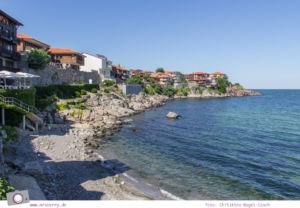 Schwarzmeerküste in Bulgarien - herrliche Aussicht von Sozopol auf das Meer
