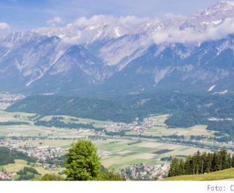 Eindrücke aus Hall-Wattens in Tirol - Bergpanorama - fantastische Aussicht auf die Bergwelt