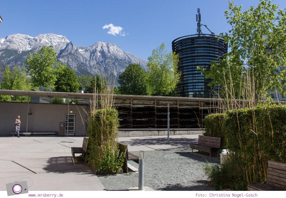Eindrücke aus Hall-Wattens in Tirol - Gradierwerk zur Inhalation & Bergpanorama