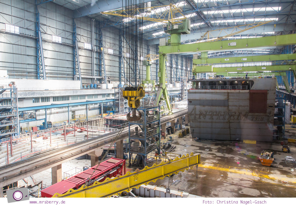 Meyer Werft in Papenburg: hier werden Kreuzfahrtschiffe gebaut