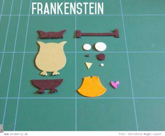 DIY Halloween Dekoration basteln: Frankenstein Monster mit der Eulenstanze