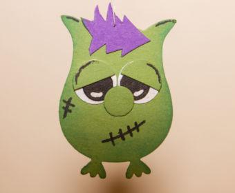 DIY Halloween Dekoration basteln: Monster mit der Eulenstanze