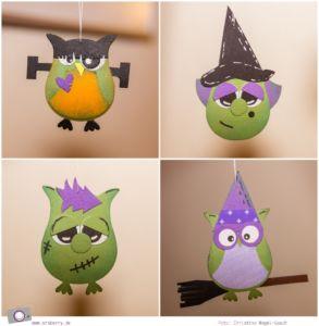 DIY Halloween Dekoration basteln: Geister, Hexen und Monster mit der Eulenstanze