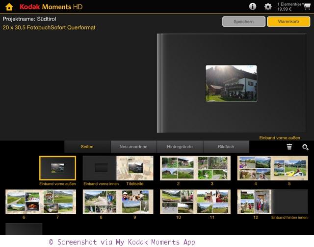 Fotobuch mit der My KODAK Moments App erstellen