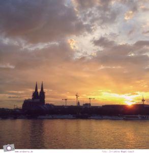 Photokina 2014: Sonnenuntergang in Köln