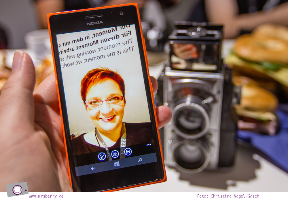 Photokina 2014: Selfie App am Nokia Lumia 735