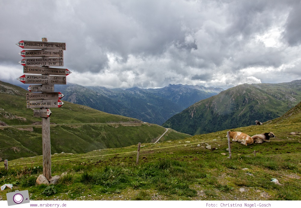 Fahrt über das Penser Joch nach Südtirol