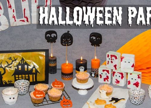 Halloween: Party Dekoration für Sweet Table