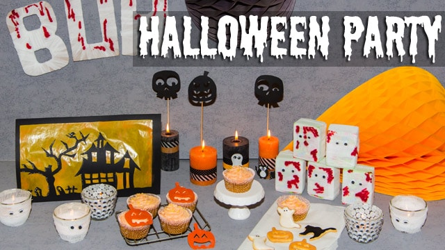DIY Halloween Dekoration - Sweet Table