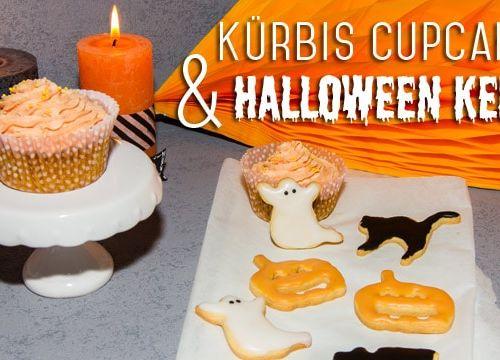 Kürbis Cupcakes & Halloween Kekse
