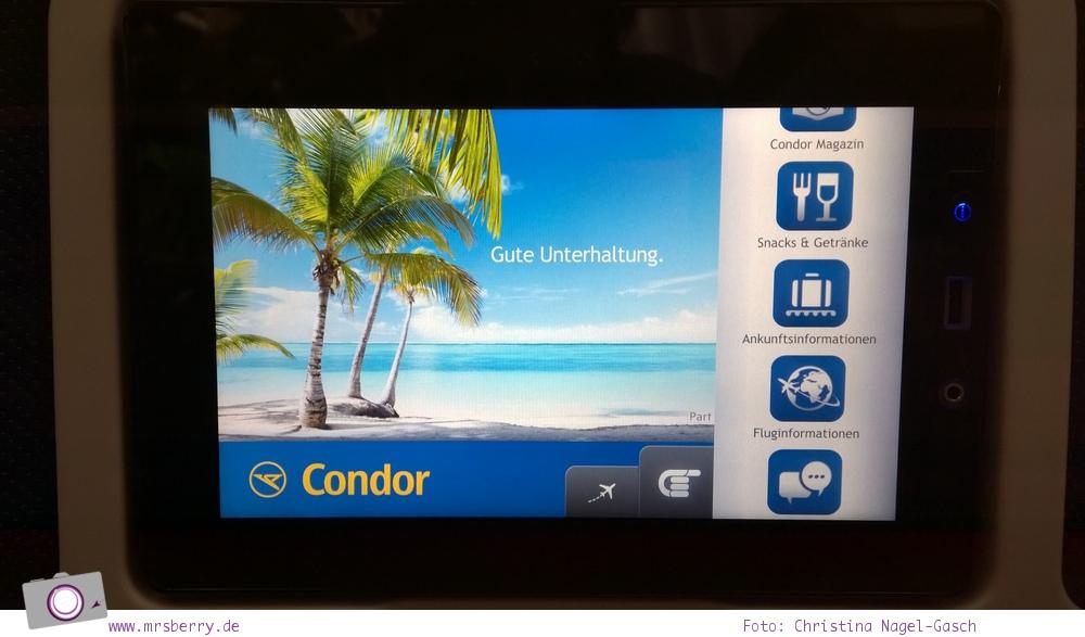 Südafrika #1: mit Condor nonstop ab Frankfurt nach Kapstadt - das Entertainment on demand in den Langstreckenkabinen
