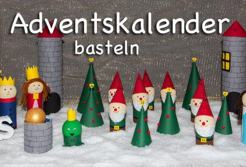 Adventskalender basteln – Märchenwald zum Selbermachen